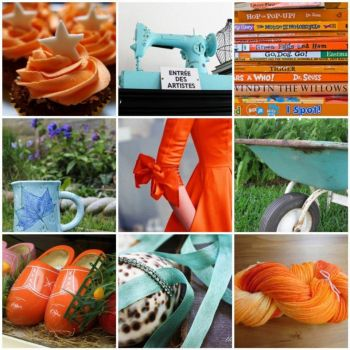Turquoise and orange, by the green gables on flickr