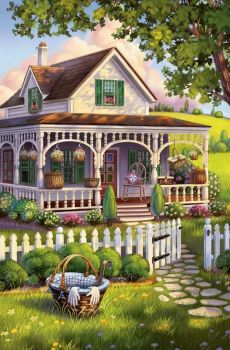 Adorable little house with white picket fence