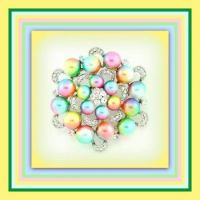 Colorful Pearl Brooch