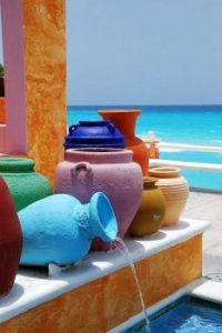 Colorful pots