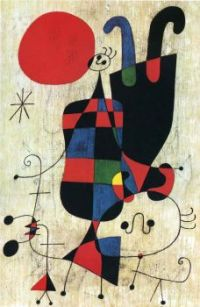 figures-and-dog-in-front-of-the-sun by Miro