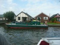 Refuse Collection Day on the norfolk Broads