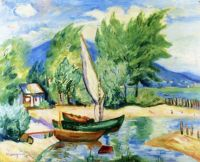 Colombier, White Sail -  Henri Manguin