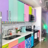 Rainbow-colored Apartment