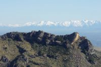 View of Southern Alps from the Port Hills, Christchurch, NZ