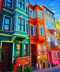 Colorful Houses in Istanbul