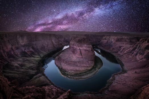 Horseshoe Bend and Milky Way