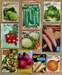 Old Veggie Seed Packets