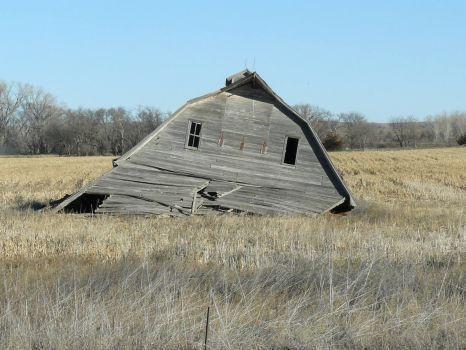 Sad old barn near Natoma, Kansas.