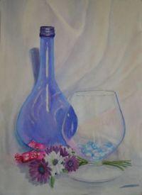 Blue Bottle Still Life