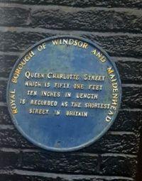 """Shortest Street in Britain"" Plaque"