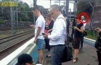 strange ... he doesn't look at his  phone ... he must be a spy !!