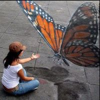 A Butterfly in chalk