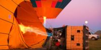 More Hot Air Balloons filling before takeoff