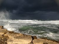 Bad weather in Haifa