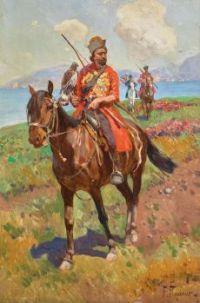 Franz Roubaud (Russian, 1856–1928), Falconers