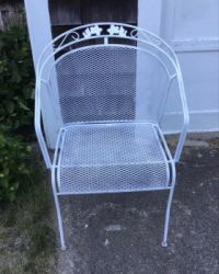 Old iron chair was in bad shape