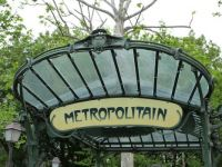 Art deco metro sign, Paris