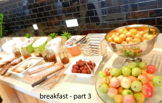 Breakfast in Israeli hotels have many courses, Tel Aviv, Dec, 2016