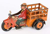 Marx prototype Moon Mullins Speedboy Delivery Motorcycle