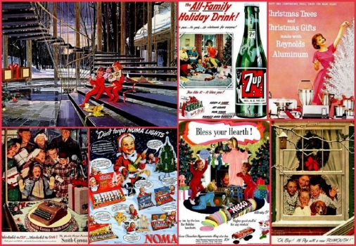 50's Christmas Ads - larger