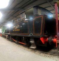 Bo'ness & Kinneil Railway 09-07-2019 24 0-6-0T National Coal Board West Ayr Area Andrew Barclay talley 2335 1953 horizontal panorama 02