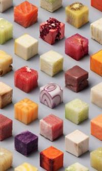 "Themes ""Square & Rectangular Things "" - food cubes"