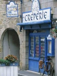 Crepe Shop Front, Roscoff, France