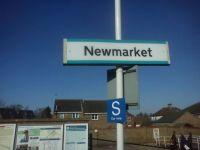 Newmarket train station sign