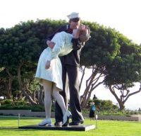 San Diego Harbor - Sailor Kissing Statue