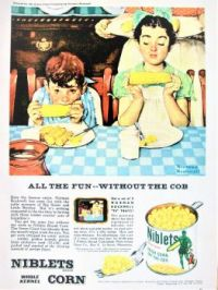 Themes Vintage illustrations/pictures - Niblets Corn