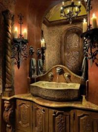 Beautiful Gothic Victorian Bathroom Decor