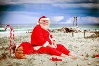 Santa's beach break