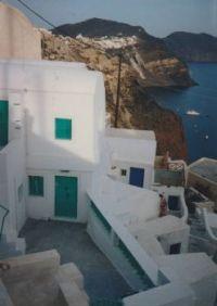 Cliffside dwellings in Ia, Santorini