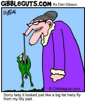 Bonga Bonga News Alert - Frog mistakes S.L.O.G....