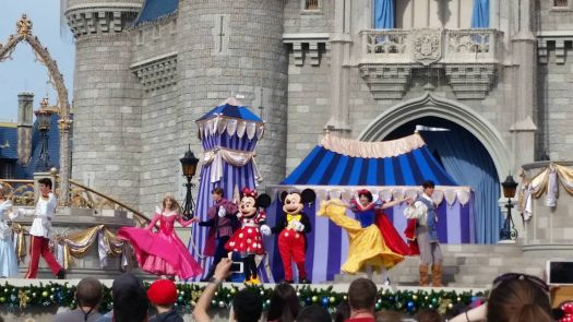Live show in front of Cinderella's Castle!