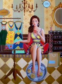 Nadia Osi painting