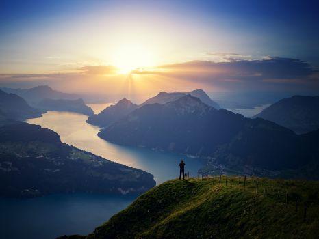 Overlook of Lake Lucern