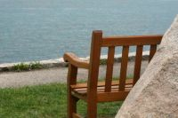 A place to sit in Woods Hole