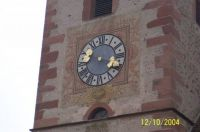 Church Clock Riquerwihr Alsace