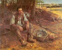José Malhoa (Portuguese, 1855–1933), The Basket (1909)