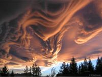 Asperitas Clouds Over New Zealand