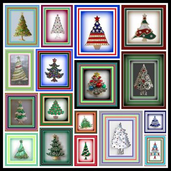 Merry Christmas Tree Broaches and Thank You Letter