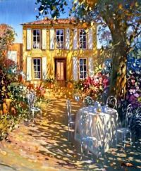sunlit country garden by Larent Parcelier