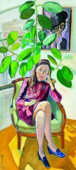 Nancy And The Rubber Plant - Alice Neel