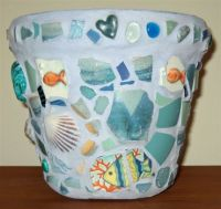 My Under-the-Sea Mosaic Flowerpot