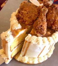 Cornbread, Mashed Potato, Fried Chicken Cake