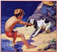 Boy and Dog by Henry Hintermeister