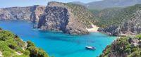 Sardinia lonely boat.