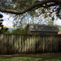 Aged fence